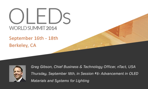 nTact to attend OLEDs World Summit in San Francisco this September